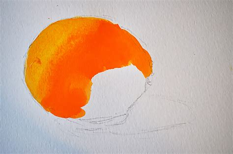 how to paint an orange using the color wheel to make
