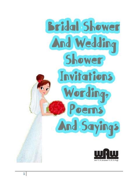 bridal shower poems  quotes quotesgram