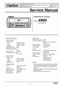 Clarion Xmd3 Sm Service Manual Download  Schematics