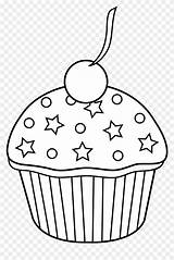 Cupcake Clipart Muffin Cupcakes Coloring Pages Outline Cute Bakery Cakes Pastries Pink Transparent Colored Pies Cliparts Clipground Vippng sketch template
