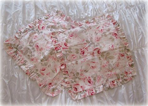 shabby chic pillow shams shabby chic rosalie ruffled pillow sham pair