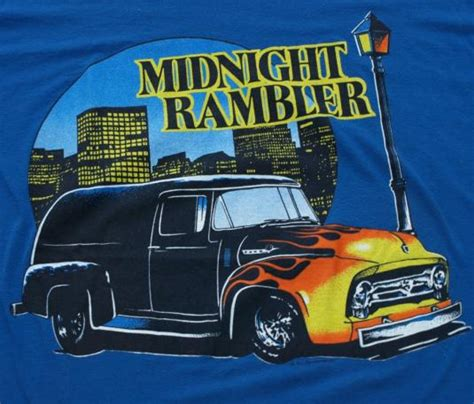 vintage midnight rambler hot rod city  shirt