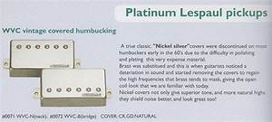 Wilkinson Wvc Vitage Covered Humbucker Pickup Gold Cover