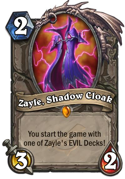 zayle shadow cloak deck lists    evil decks