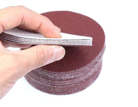 pcsset   mm  flocking sandpaper disk sand