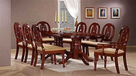 mahogany dining room set for mahogany dining table with 6 chairs and 2 carvers homegenies 9720