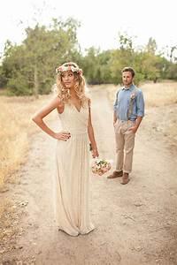 Robes De Mariée Bohème Chic : robe de mari e boh me chic goldy mariage ~ Nature-et-papiers.com Idées de Décoration