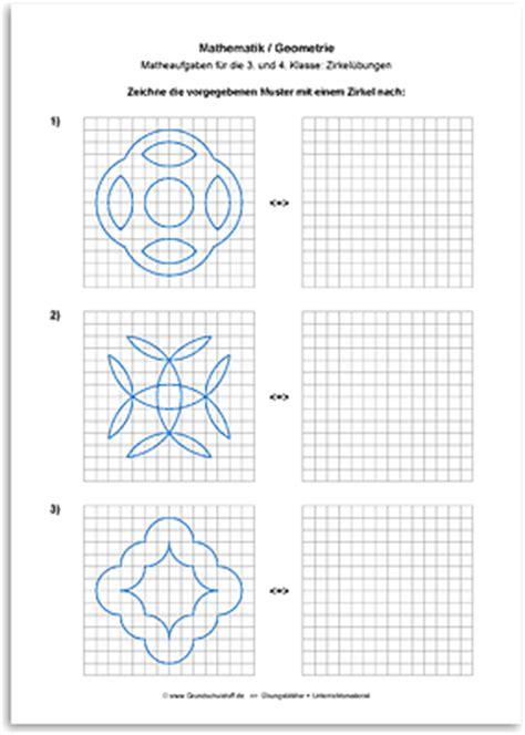 arbeitsblatt mathematik geometrie zirkeluebungen nr