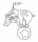 Elephant Coloring Circus Playing Printable Sheets Momjunction Standing Ball sketch template