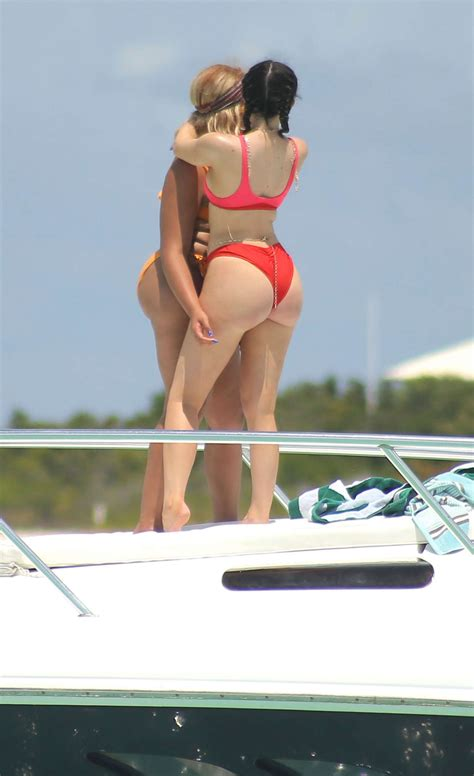 kylie jenner  red bikini   gotceleb