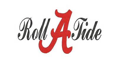 Alabama Tide Roll Embroidery Designs Pes