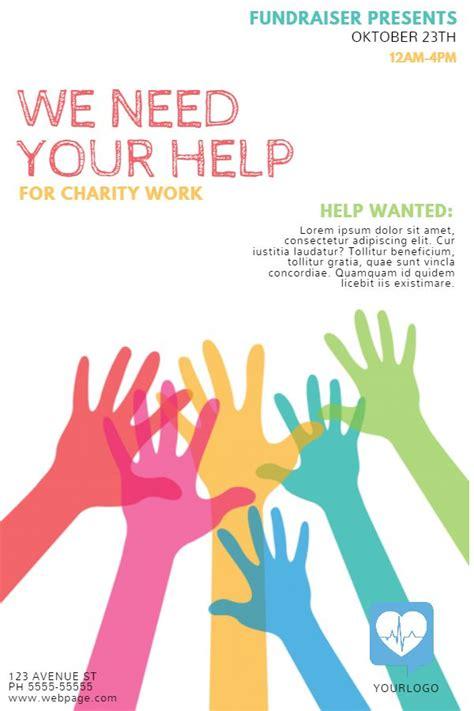 fundraising event flyer social media template