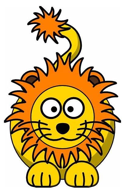 Lion Mane Cartoon Orange Yellow Clip Clipart