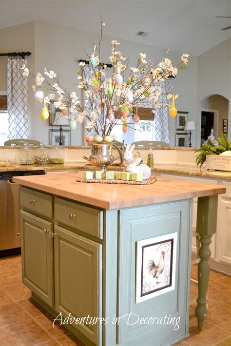 decorating kitchen islands adventures in decorating flowers are blooming in the kitchen