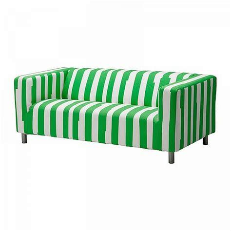 striped duvet ikea klippan loveseat sofa slipcover cover ranten green
