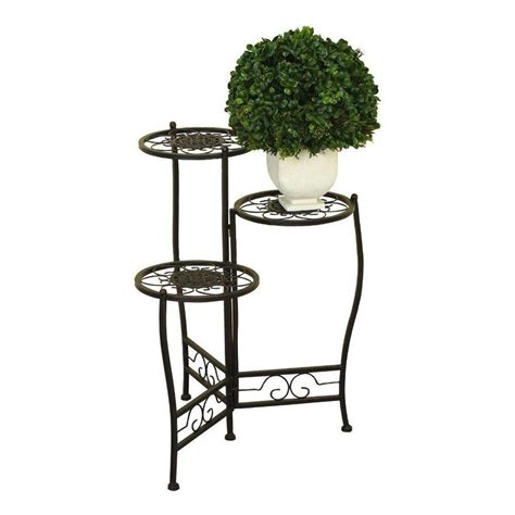 home depot standing ls ore international mtl 24 in h x 18 in w iron plant stand