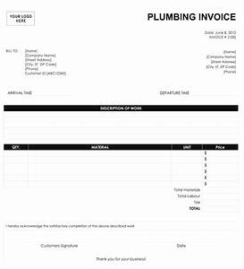 Best photos of plumbing invoice template for contractors for Blank plumbing invoice free