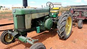 1959 John Deere Tractor Model 730 Idle With Load