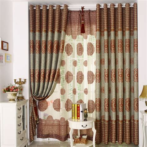 vintage curtains and drapes retro window curtains for living room in taste