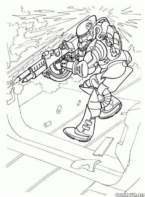 disegni da colorare combattimento nave spaziale