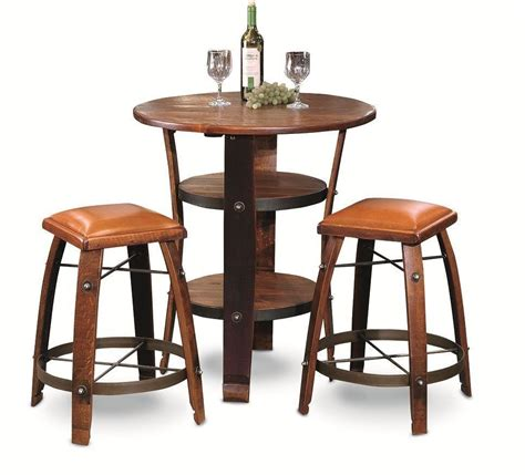 When considering which outdoor bistro table to buy, it's important to from accent tables to bistro sets, you can find everything you need to elevate your outdoor space at every day low prices. Awesome Barrel Bistro Bar Pub Table Set with 2 Leather Top Stools. #2DayDesign #RusticPrimitive ...