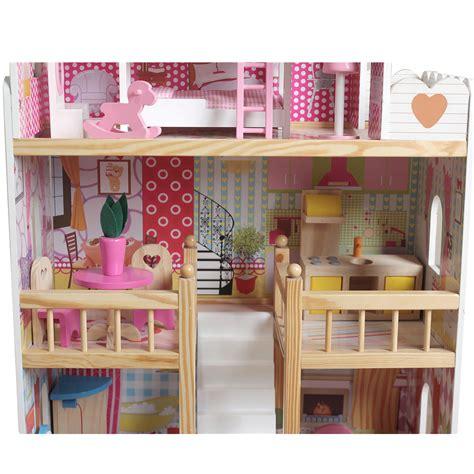 modern wooden kids dolls house large dolls house pcs