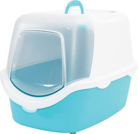 maison de toilette chat cathy turquoise easy clean pelle maisons de toilette chat sur