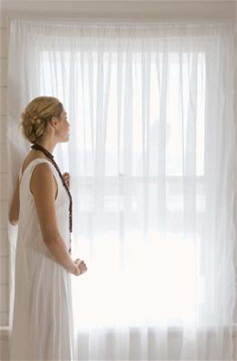 how to make white sheer curtains without sewing home