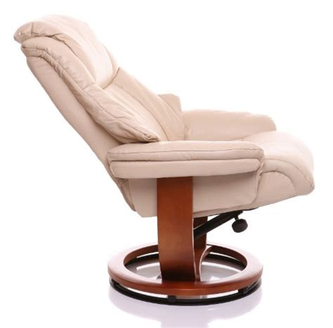 Shaggy leather swivel chair cream stone leather ngala trading co. The Emperor - Bonded Leather Recliner Swivel Chair ...