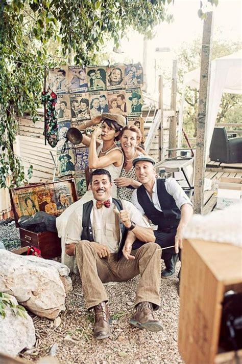 deco mariage retro chic retro wedding rustic retro themed montpellier wedding 2063542 weddbook