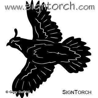 quail flying  signtorch turning images  vector