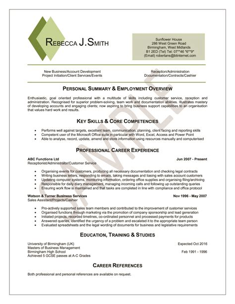 New Sle Resume Format 2014 by Cv Style 55 Professional Cv Writing Service