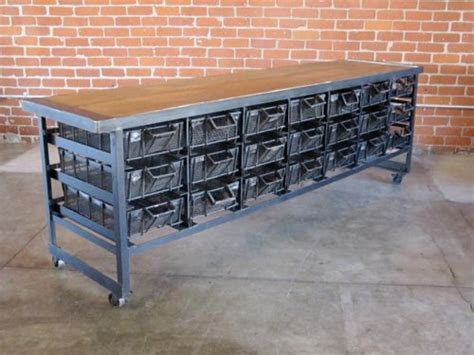 industrial style furniture vintage industrial storage and tables from cleveland Vintage