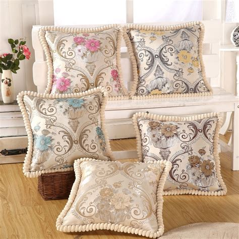 Luxury Embroidery Cushion Home Decor Pillow Pillowcase