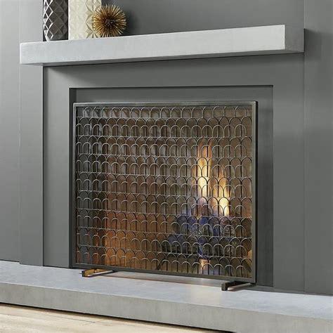 contemporary fireplace screens ideas  pinterest
