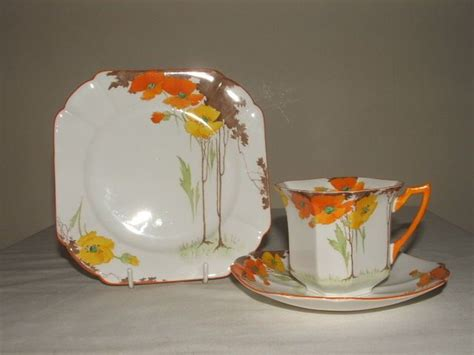dinnerware tea orange poppy 240 best images about deco china on