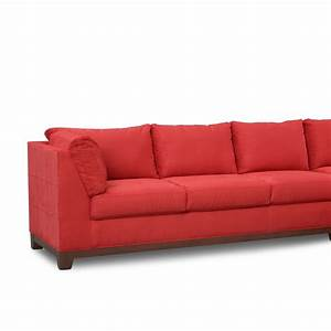 soho 2 piece sectional with right facing chaise red With red sectional sofa american signature