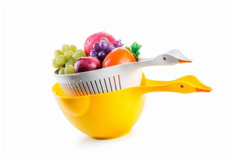 Cool Product Alert Duck Shaped Colander Set by Cool Product Alert A Duck Shaped Colander Set