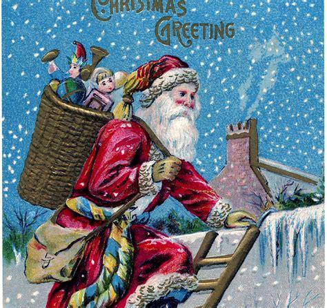 vintage santa  roof image    voted