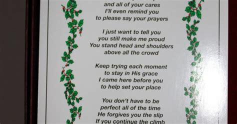 merry christmas  heaven poem printable living