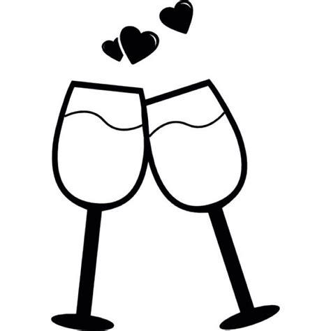 clipart brindisi par de copas en un brindis por el icono gratis