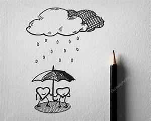 Zeichnungen Mit Bleistift Für Anfänger : bleistift skizzieren f r herz sch tzen das regen konzept auf wei em papier stockfoto sayhmog ~ Frokenaadalensverden.com Haus und Dekorationen
