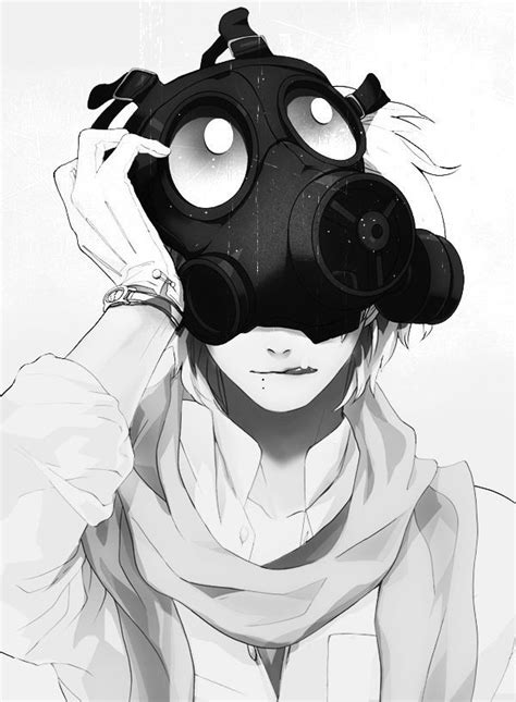 58 Best Anime Gas Mask Images On Pinterest Anime Boys