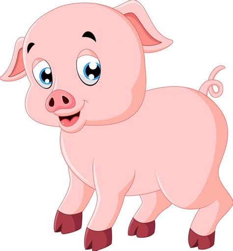 As you can see, there's no background. Cute pig cartoon Vector   Premium Download