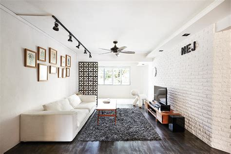 chic homes  white brick walls home decor singapore