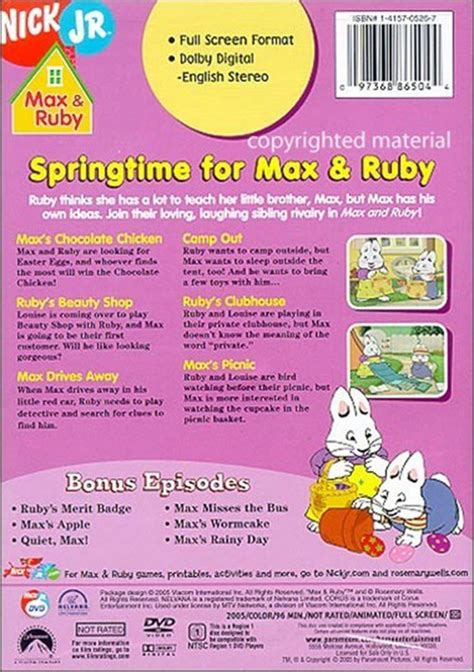 S Max And Ruby Halloween Vhs