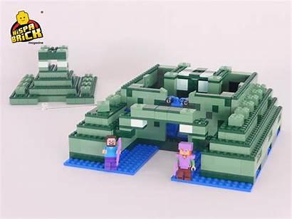 Monument Ocean Minecraft Door Building Block Hidden