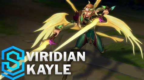 viridian kayle skin spotlight pre release league  legends youtube