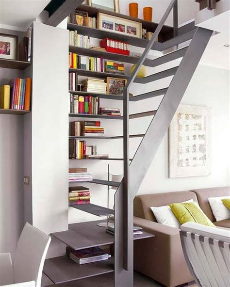 compact stair design compact staircase design serves as bookshelves side table and staircase captivatist