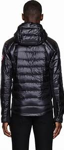 Lyst Canada Goose Black Nylon And Knit Hybridge Lite Hoodie In Black For Men